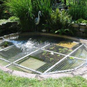 Ertrinkungsschutz für Gartenteich