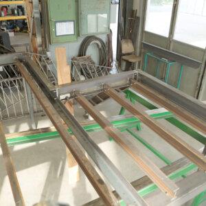 Stahlbau für Terrasse